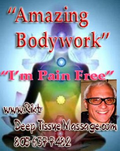 Riktr Pro Deep Tissue / Swedish Massage / Best Sports Massage / Surfer, Surfing Massage / Professional Bodywork, Santa Barbara, Montecito, Carpinteria, Summerland, Goleta, Tri Counties Massage: Nicola, LMT. #1 Licensed Massage Therapist is a California State Licensed and Insured LMT (Certified Massage Practitioner) Professional BODY WORKER, by APPOINTMENT ONLY, Last Minute Appointments are OK.